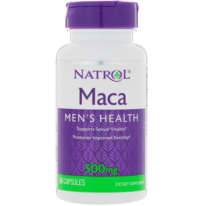 Natrol Maca 500 mg 60 capsules - фото 1