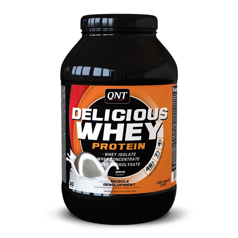 QNT Delicious Whey Protein 908 g. (Кокос) - фото 1