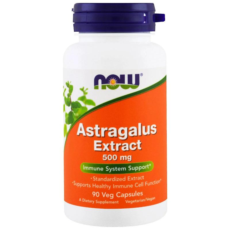 Now Foods Astragalus Extract 500 mg 90 Veg capsules - фото 1