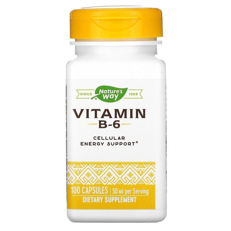 Nature's way Vitamin B-6 50 mg 100 Capsules - фото 1