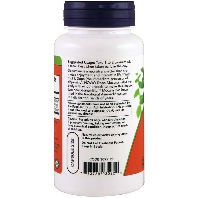 Now Foods Dopa Mucuna 90 Vcapsules - фото 1