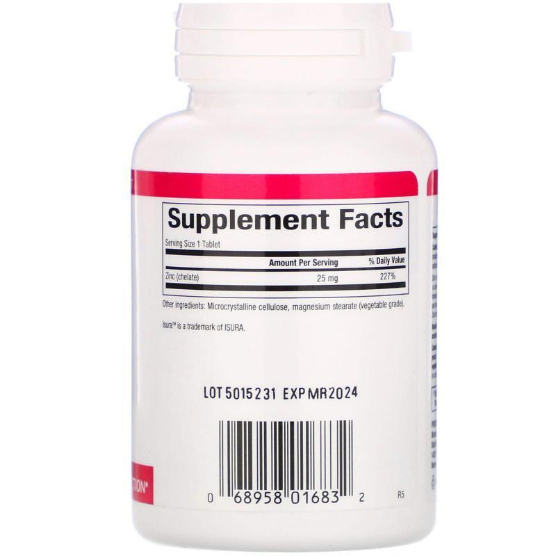 Natural Factors Zinc Chelate 25 mg 90 tablets - фото 1