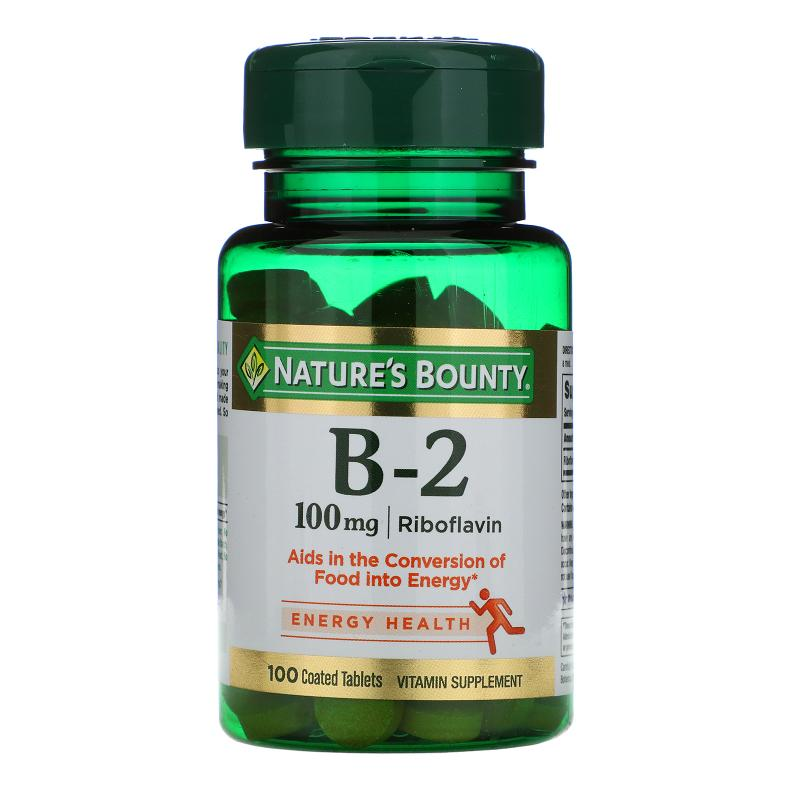 Nature's Bounty B-2 Riboflavin 100 mg 100 tablets - фото 1