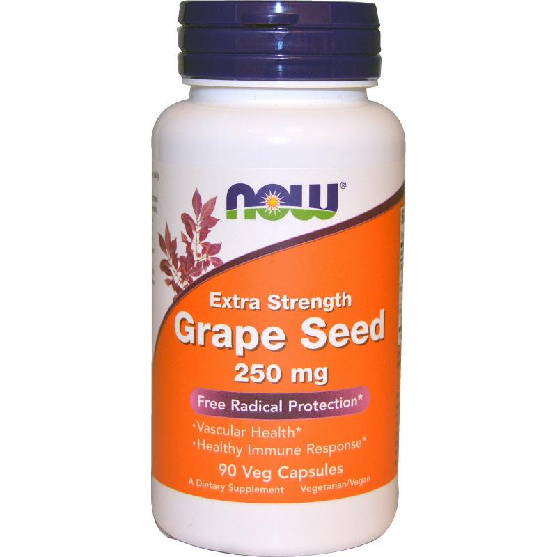 Now Foods Grape Seed 250 mg 90 vcaps - фото 1