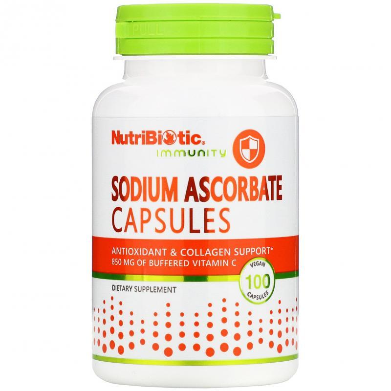 NutriBiotic Sodium Ascorbate 100 capsules - фото 1