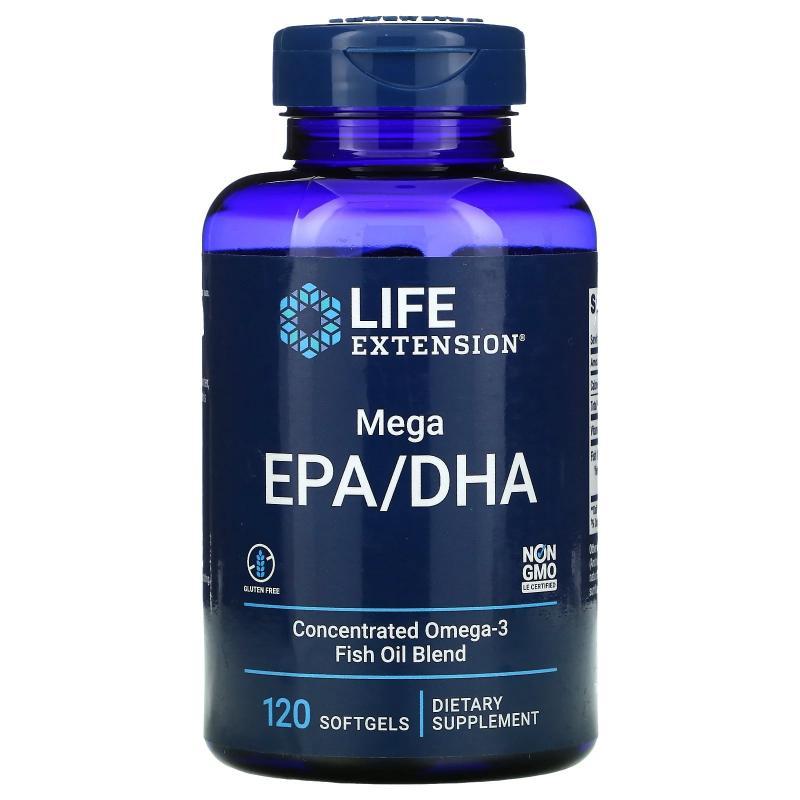 Life Extension Mega EPA/DHA 120 Softgels - фото 1