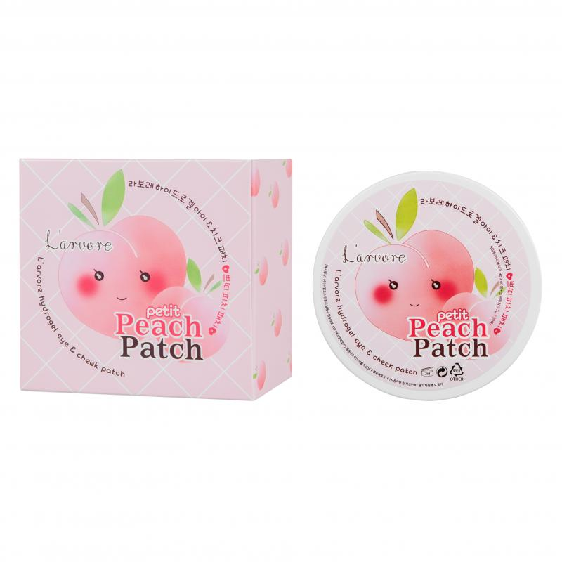 L arvore Hydrogel Eye & Cheek Petit Peach Patch Гидрогелевые патчи для глаз 60 шт - фото 1