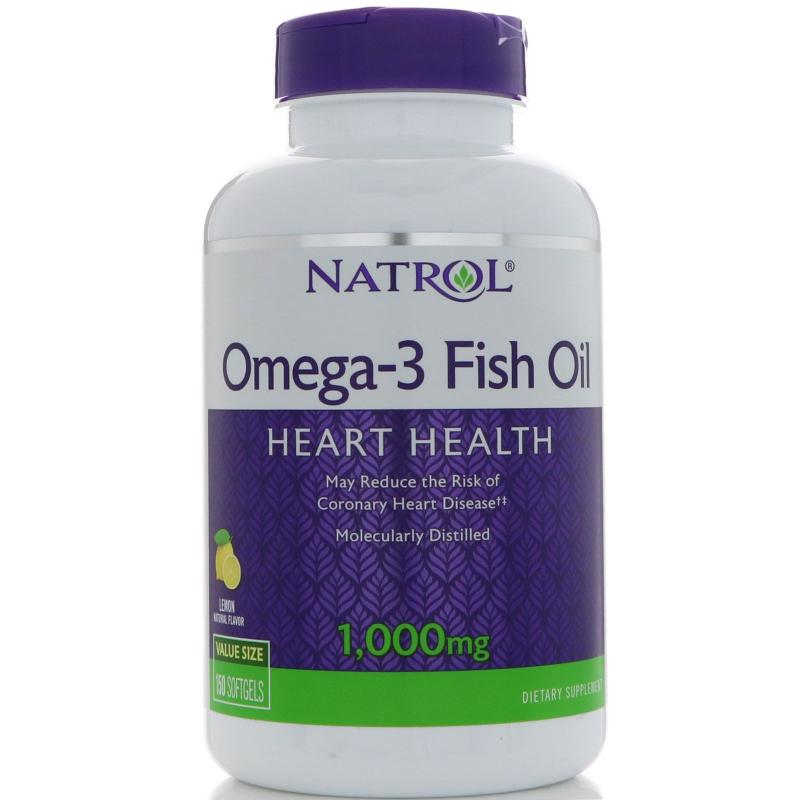 Natrol Omega-3 Fish Oil 150 Softgels - фото 1