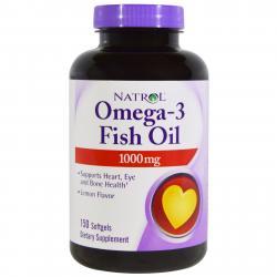 Natrol Omega-3 Fish Oil 150 Softgels