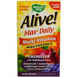 Nature's Way Alive Max6 Daily Multi-Vitamin 90 veg capsules