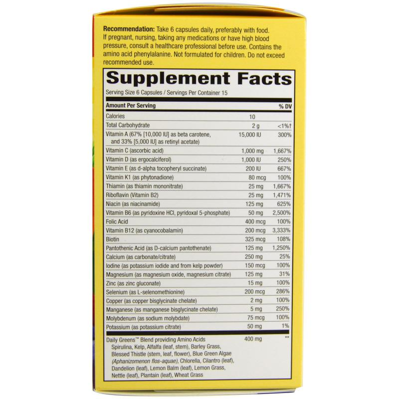 Nature's Way Alive Max6 Daily Multi-Vitamin 90 veg capsules - фото 1