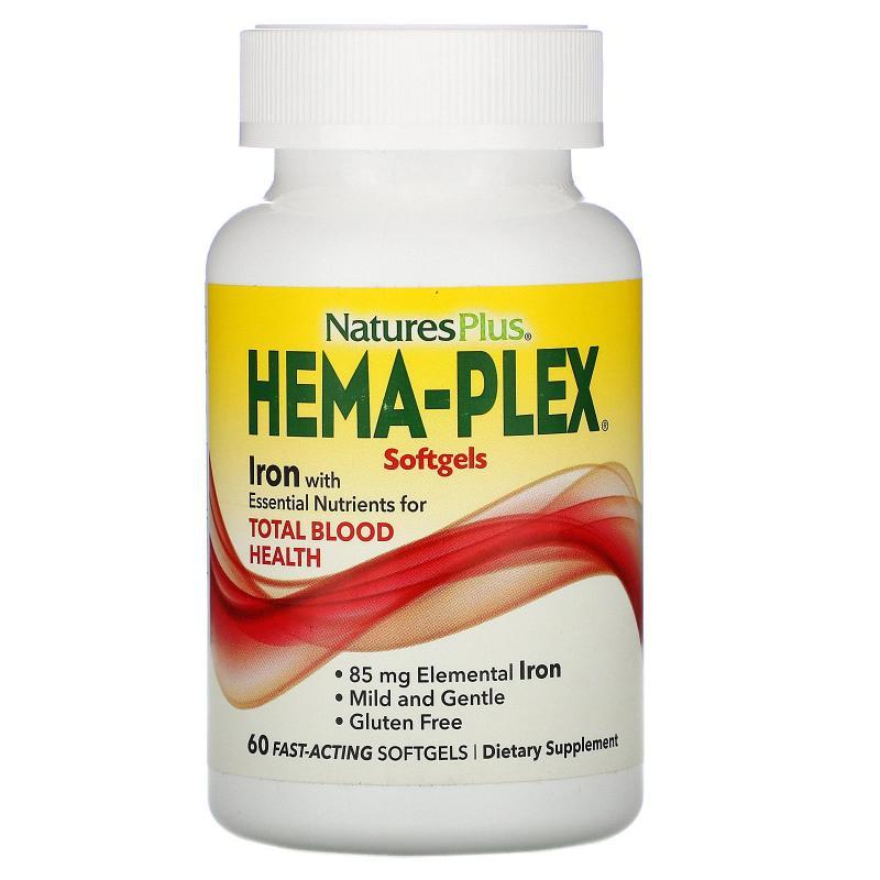 Nature's Plus Hema-Plex 60 fast-acting softgels - фото 1