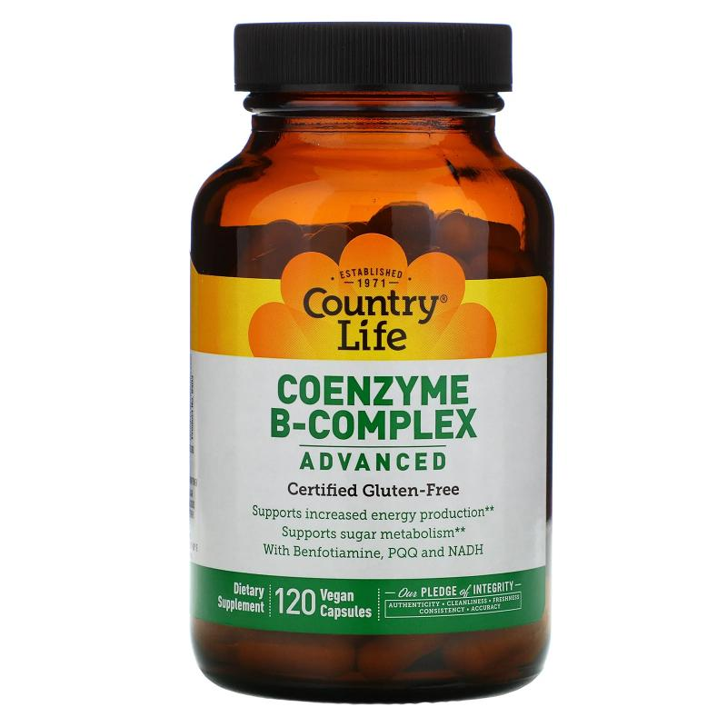 Country Life Coenzyme B-Complex Advanced 120 Vegan Capsules - фото 1