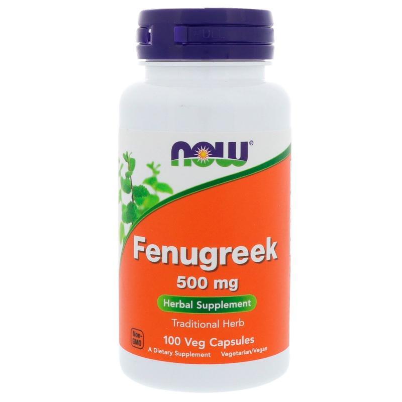 Now Foods Fenugreek 500 mg 100 vcaps - фото 1