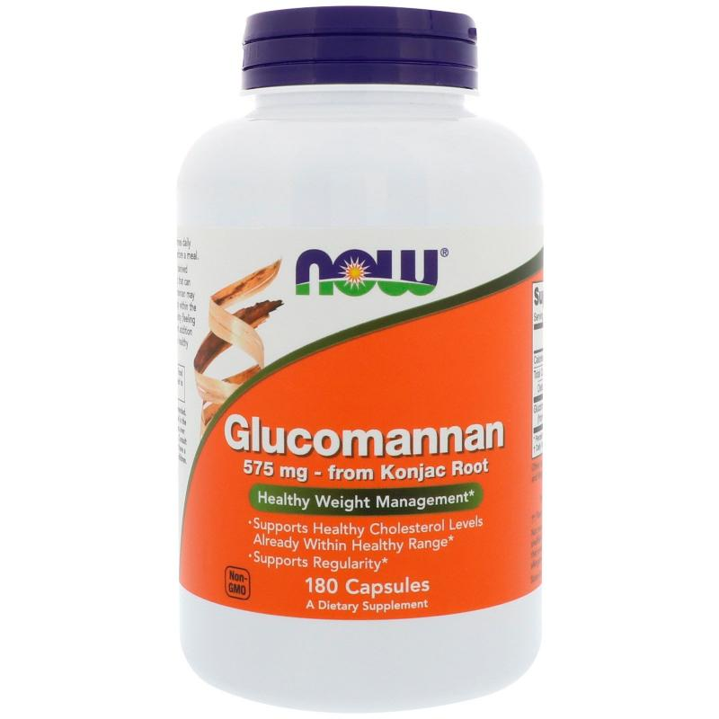 Now Foods Glucomannan 575 mg 180 caps - фото 1