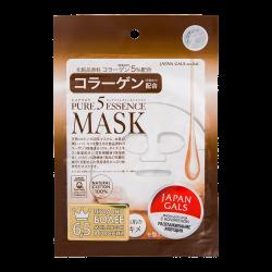 JAPAN GALS Pure5 Essence Mask Тканевая маска с коллагеном 1 шт