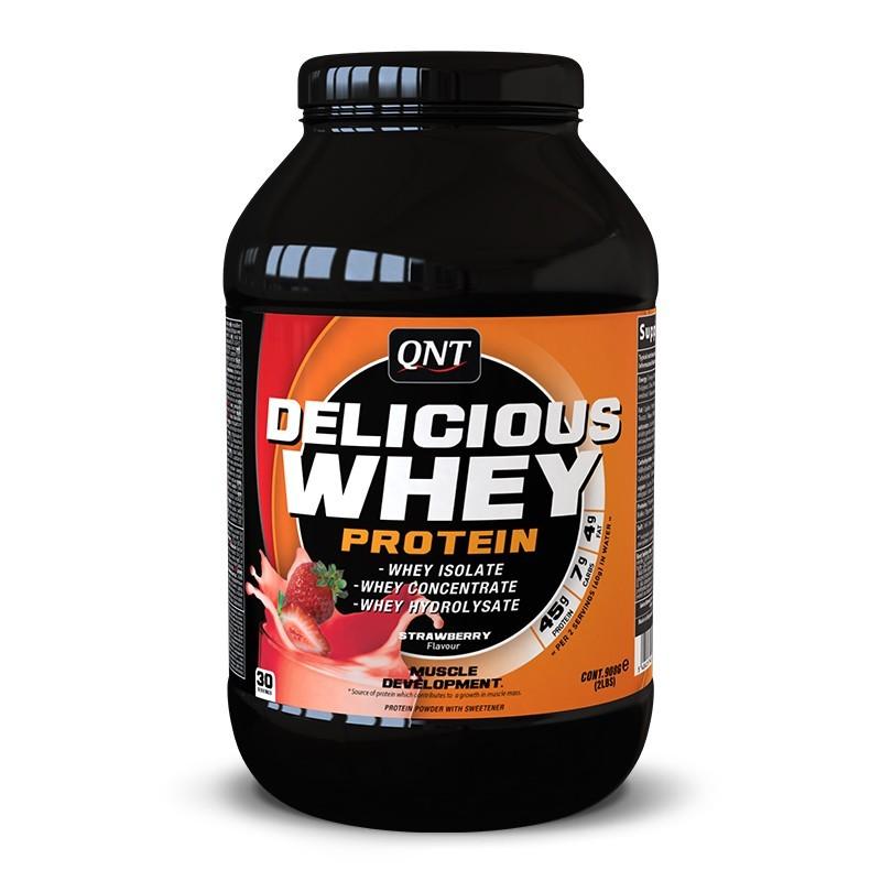 QNT Delicious Whey Protein 2,2 kg. (Клубника) - фото 1