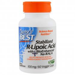 Doctor's Best Stabilized R-Lipoic Acid 100 mg 60 vcaps