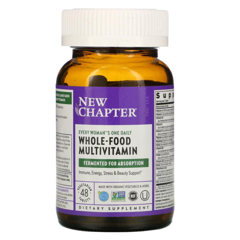 New Chapter Whole-Food Multivitamin every woman's one daily 48 tablets - фото 1