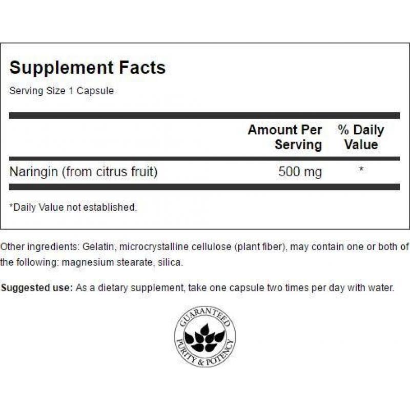 Swanson Naringin Citrus Bioflavonoid 500 mg 60 capsules - фото 1