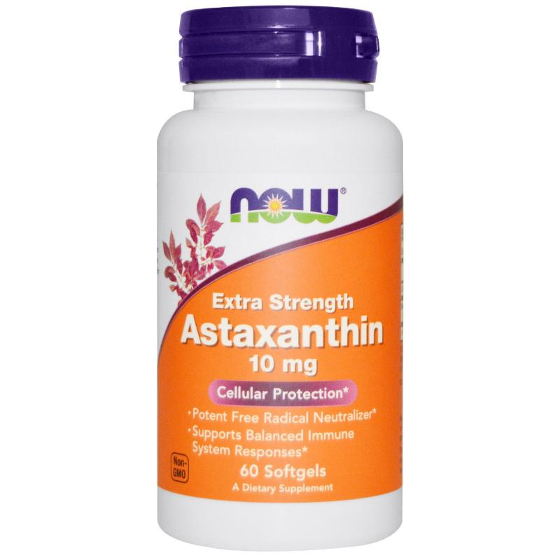 Now Foods Astaxanthin 10 mg 60 softgels - фото 1