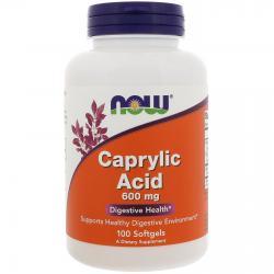 Now Foods Caprylic Acid 600 mg 100 Softgels