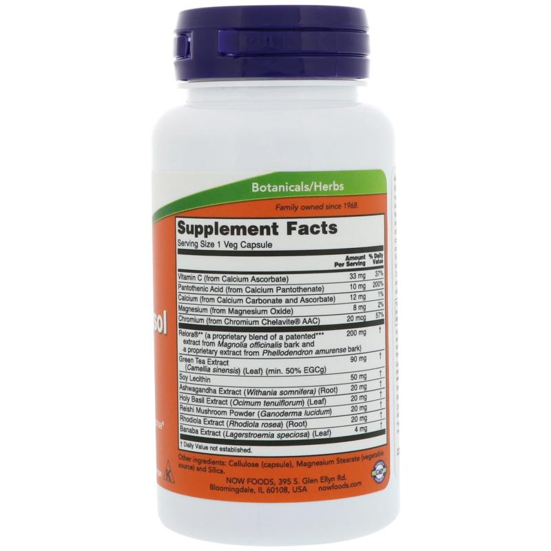 Now Foods Super Cortisol Support with Relora 90 vcaps - фото 1