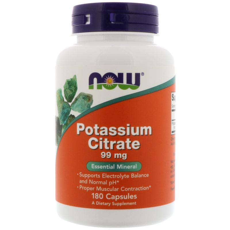Now Foods Potassium Citrate 99 mg 180 caps - фото 1
