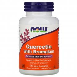 Now Foods Quercetin with Bromelain 120 capsules