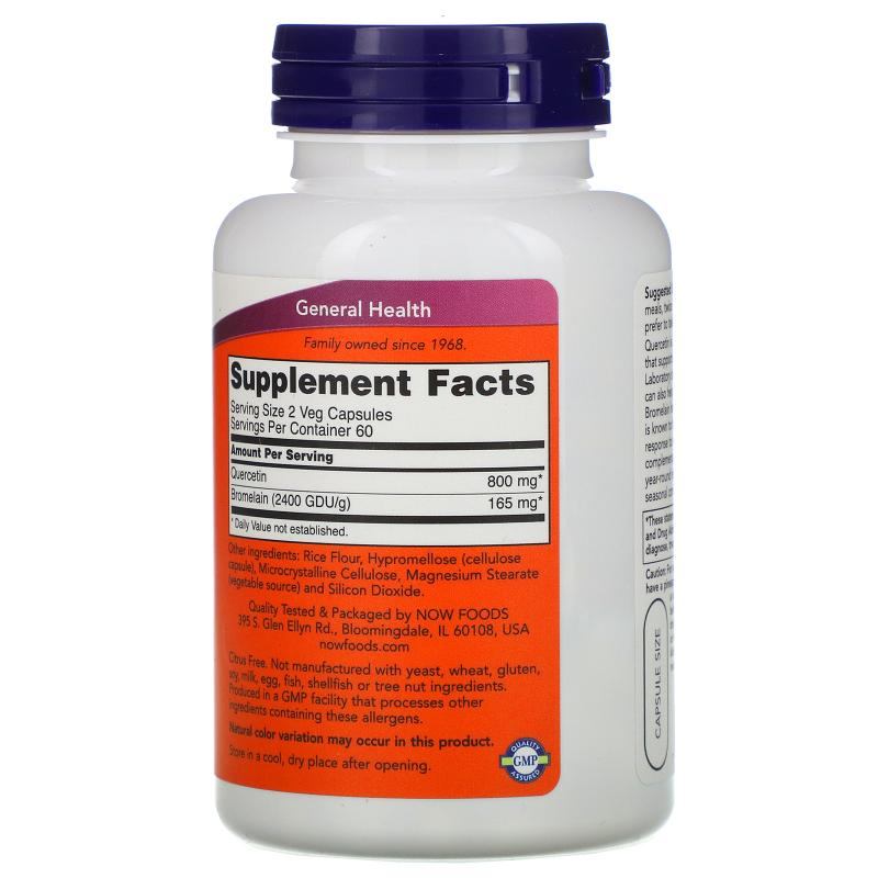 Now Foods Quercetin with Bromelain 120 capsules - фото 1