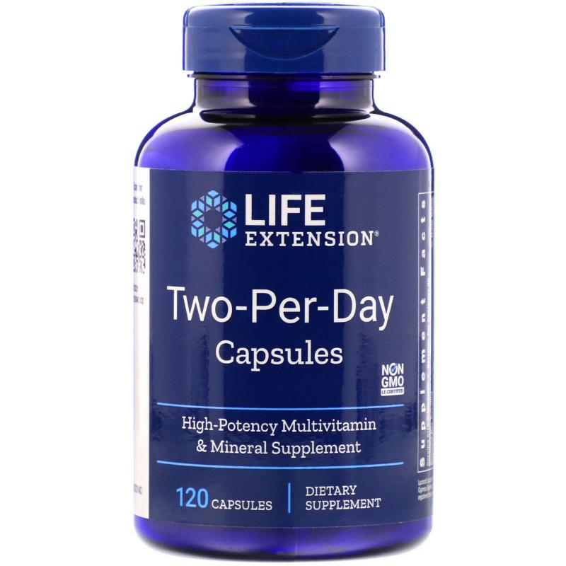 Life Extension Two-Per-Day 120 capsules - фото 1