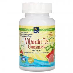 Nordic Naturals Vitamin D3 kids 400 IU 60 gummies