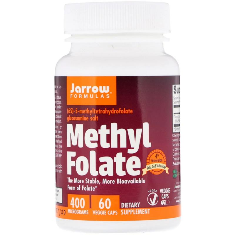 Jarrow Methyl Folate 400 mkg 60 capsules - фото 1