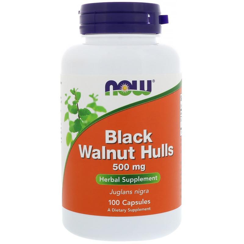 Now Foods Black Walnut Hulls 500 mg 100 caps - фото 1