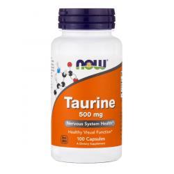 Now Foods Taurine 500 mg 100 caps