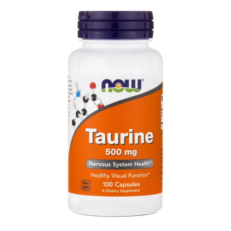 Now Foods Taurine 500 mg 100 caps - фото 1