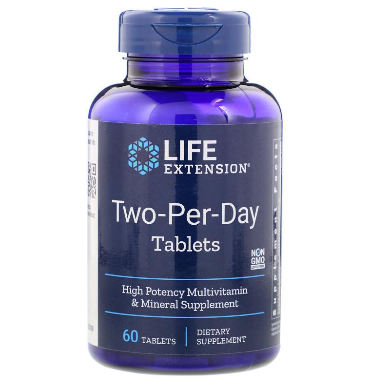 Life Extension Two-Per-Day 60 capsules - фото 1