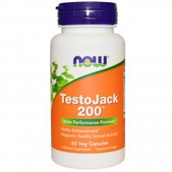 Now Foods TestoJack 200 mg 60 vcaps