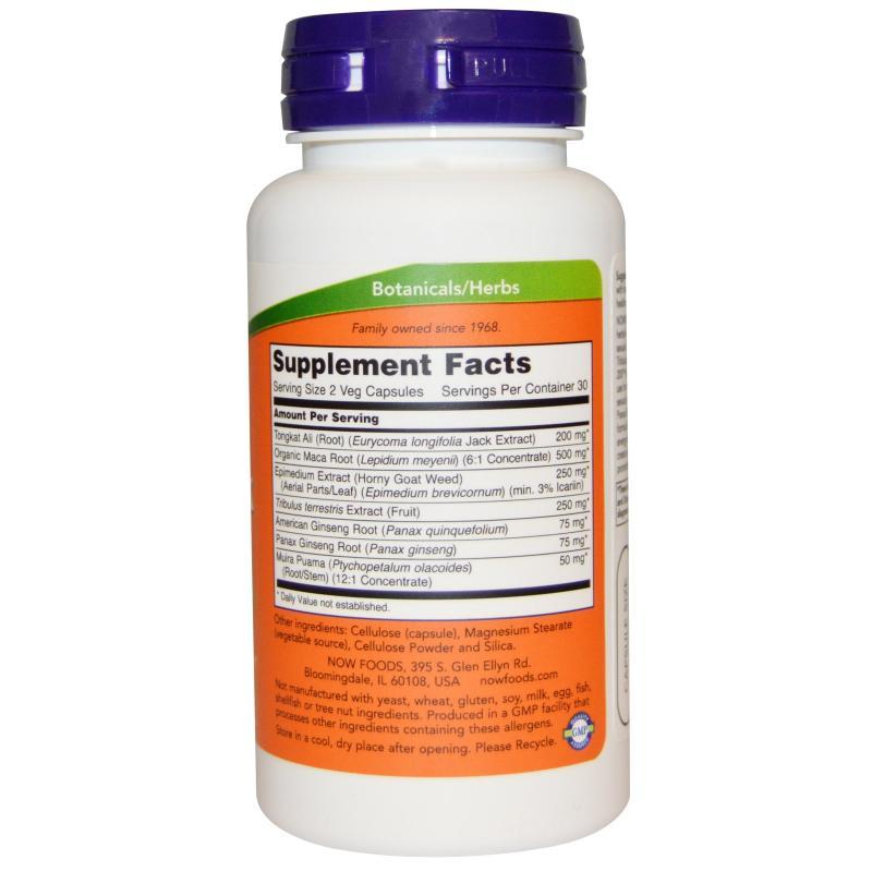 Now Foods TestoJack 200 mg 60 vcaps - фото 1