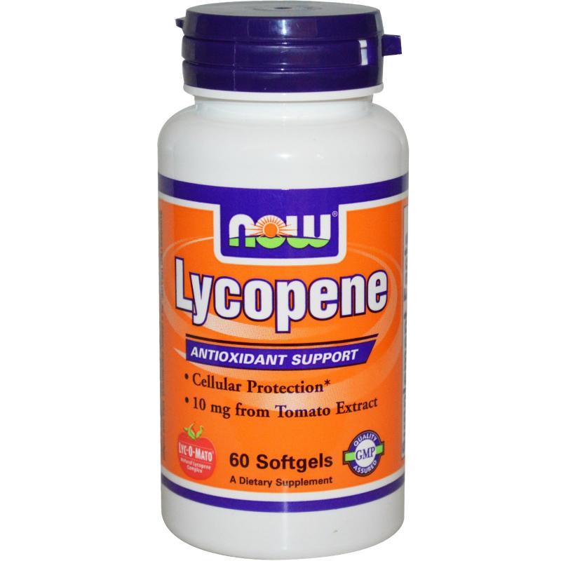 Now Foods Lycopene 10 mg 60 softgels - фото 1