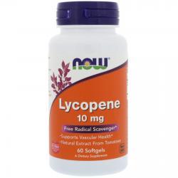 Now Foods Lycopene 10 mg 60 softgels