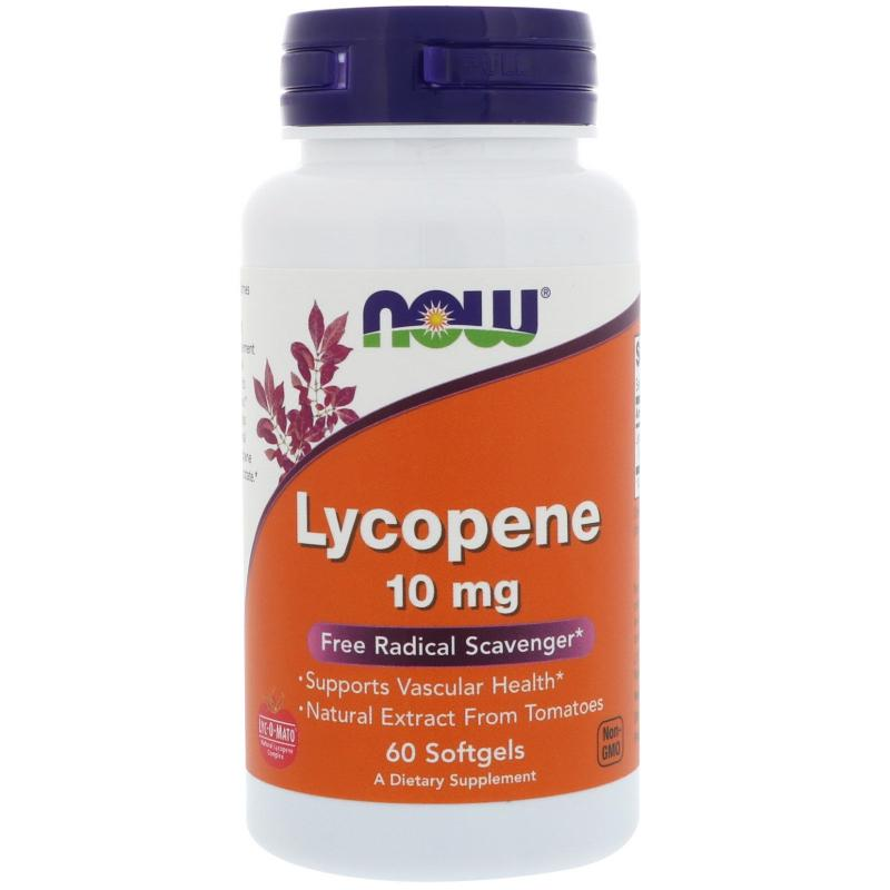 Now Foods Lycopene 10 mg 60 softgels - фото 1