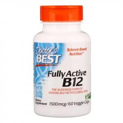 Doctor's Best Fully Active B12 1500 mcg 60 Veggie Caps