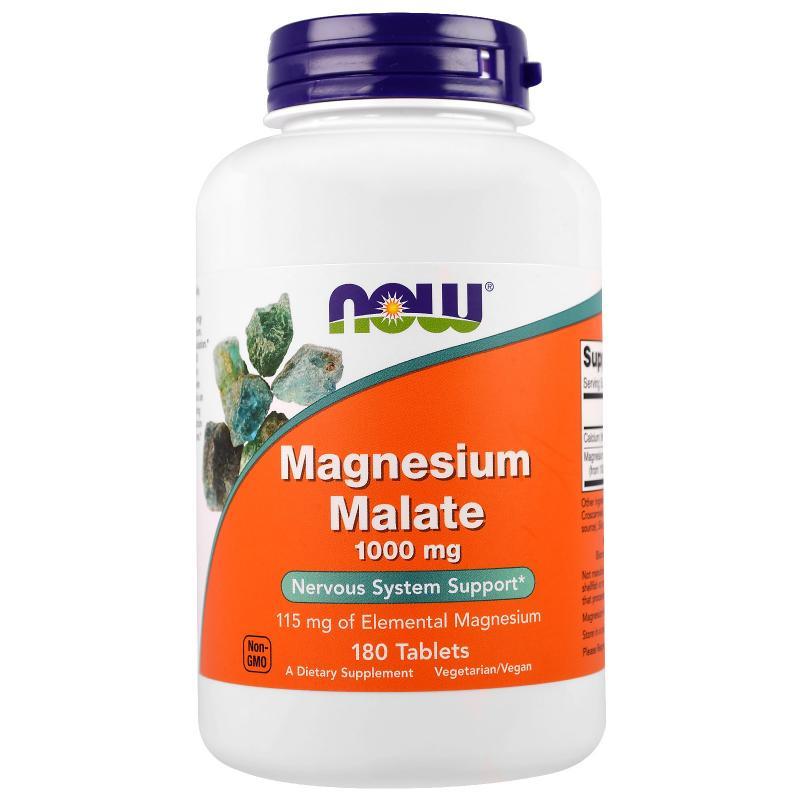 Now Foods Magnesium Malate 1000 mg 180 tab - фото 1