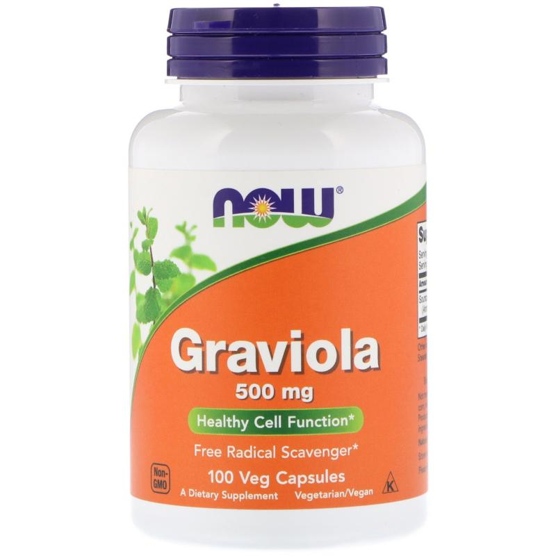 Now Foods Graviola 500 mg 100 vcapsules - фото 1