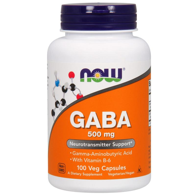 Now Foods Gaba 500 mg 100 caps - фото 1