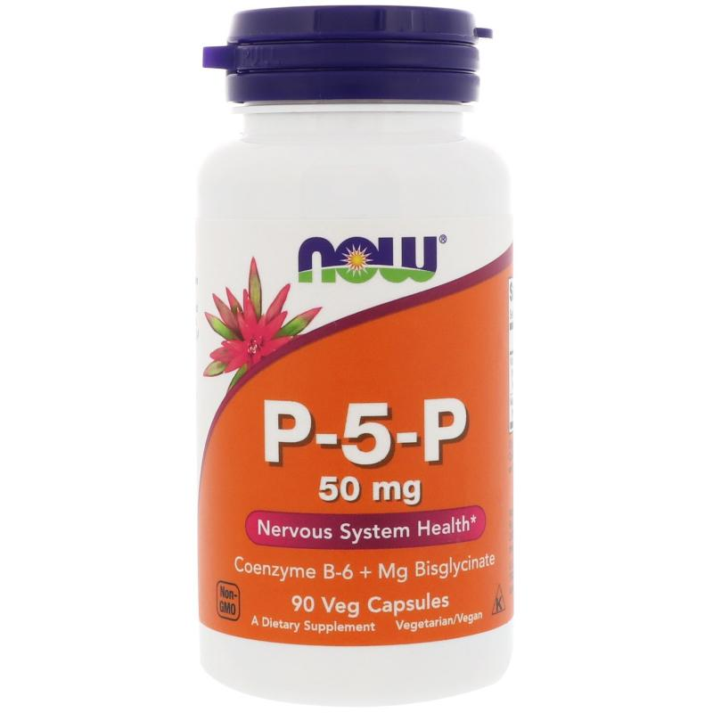 Now Foods P-5-P 50 mg 90 Veg Capsules - фото 1