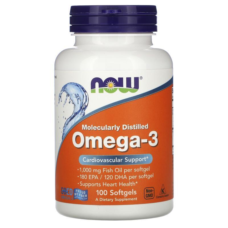 Now Foods Omega-3 180 EPA / 120 DHA 100 softgels - фото 1