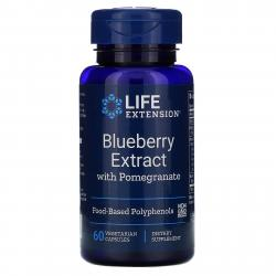 Life Extension Blueberry Extract with Pomegranate 60 VegCapsules
