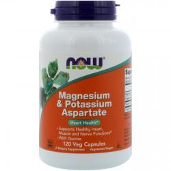 Now Foods Magnesium & Potassium Aspartate 120 vcaps